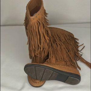 RAMPAGE faux leather fringe Ram Careese boots 8